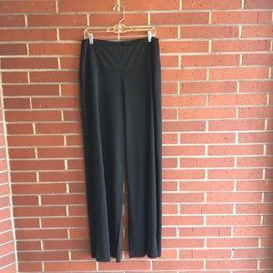 Ruby Ribbon Black Palazzo Pants L